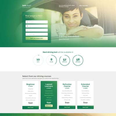 Traffic School Responsive Template Di Landing Page