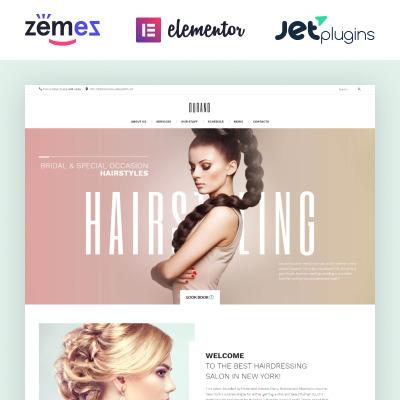 Thème WordPress adaptatif  pour salon de coiffure
