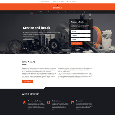 car repair website templates. Black Bedroom Furniture Sets. Home Design Ideas