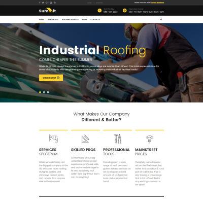 Roofing Company Responsive WordPress Motiv