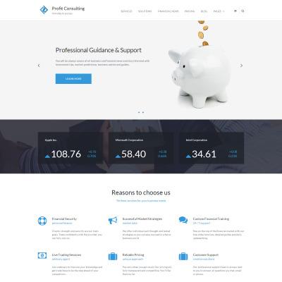 Financial Advisor Responsive Tema WordPress
