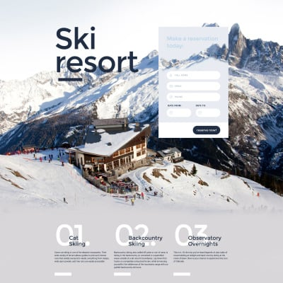 Skiing Responsive Template Di Landing Page