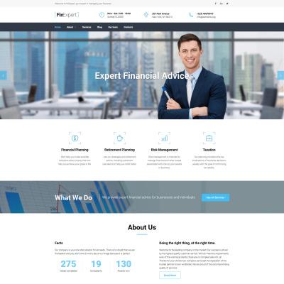 Flexível templates Moto CMS 3 №59172 para Sites de Consultor financeiro