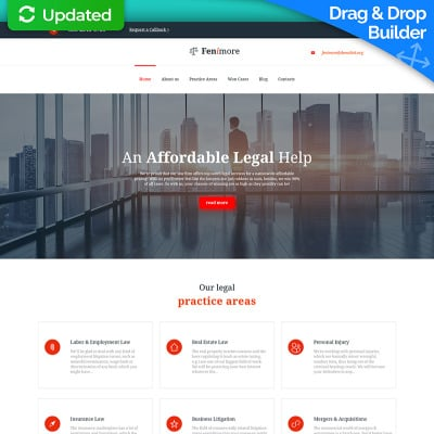 Law Firm Responsive Moto CMS 3 Template