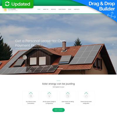 Flexível templates Moto CMS 3 №59420 para Sites de Energia Solar