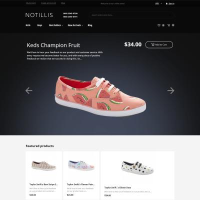 Адаптивный Magento тема №60069 на тему магазин обуви