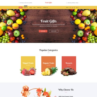 Fruit Responsive Tema Shopify