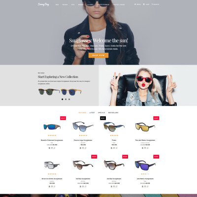 Responsive OpenCart Vorlage für Brillen