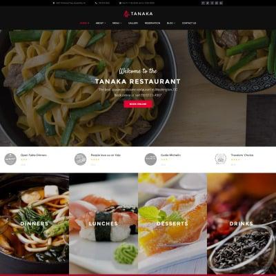 Japanese Restaurant Responsive WordPress Theme