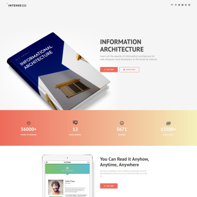 Books Landing Page Template – Small Book Template