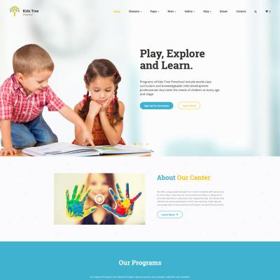 Children Education Website Template