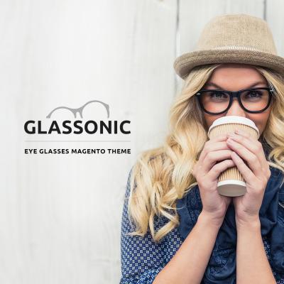 Адаптивный Magento тема №61193 на тему солнцезащитные очки