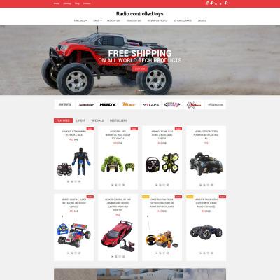 Responsive OpenCart Vorlage für Spielzeuggeschäft