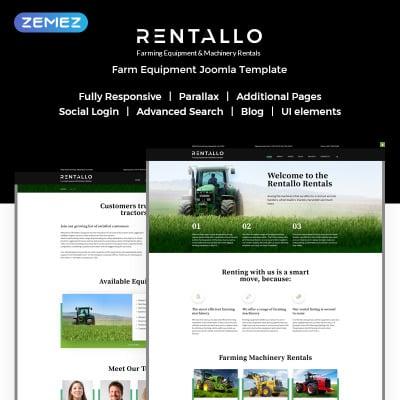 Flexível template Joomla №61204 para Sites de Templates de Fazenda