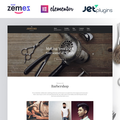 Hair Salon Responsive WordPress Motiv