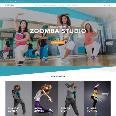 Dance Studio Responsive WordPress Motiv