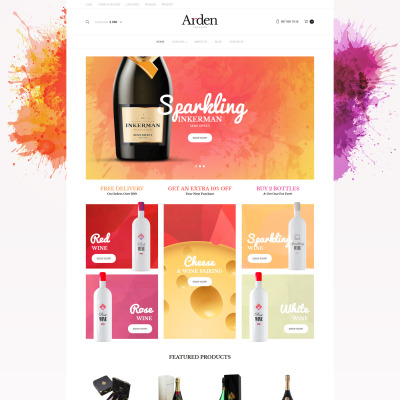 Wine Responsive VirtueMart Template