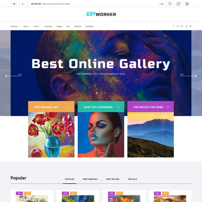 Art Gallery Responsive PrestaShop шаблон
