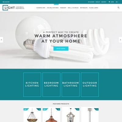 Lighting & Electricity Responsive Tema Shopify