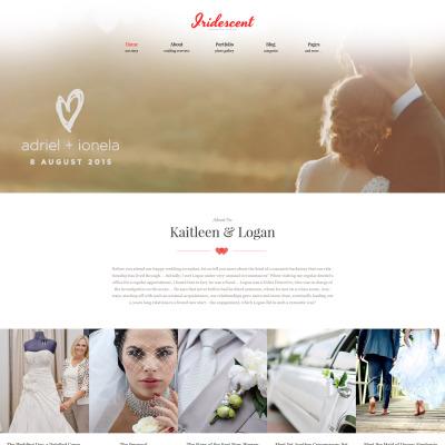 Thème WordPress adaptatif  pour site d'albom de mariage