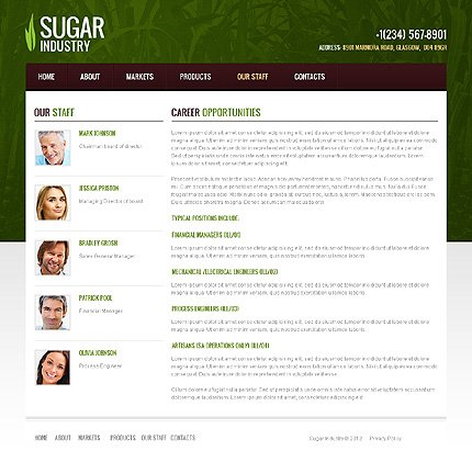 Template 40104 ( Our Staff Page ) ADOBE Photoshop Screenshot