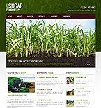 Agriculture Website  Template 40104