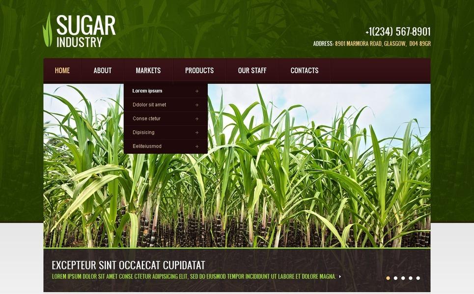 Шаблон сайту на тему сільське господарство New Screenshots BIG