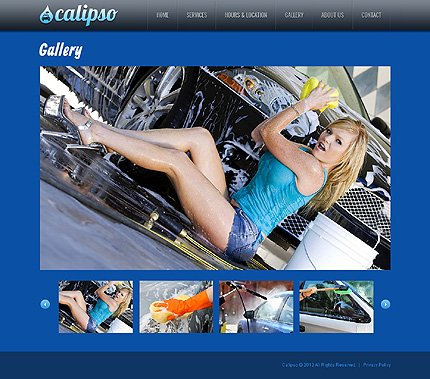 Template 40106 ( Gallery Page ) ADOBE Photoshop Screenshot
