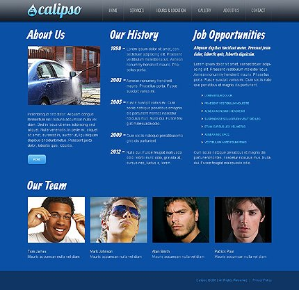 Template 40106 ( About Us Page ) ADOBE Photoshop Screenshot