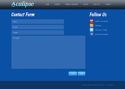 Template 40106 ( Contact Page ) ADOBE Photoshop Screenshot