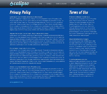 Template 40106 ( Privacy Policy Page ) ADOBE Photoshop Screenshot