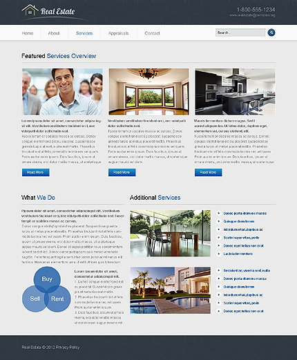 Template 40107 ( Services Page ) ADOBE Photoshop Screenshot