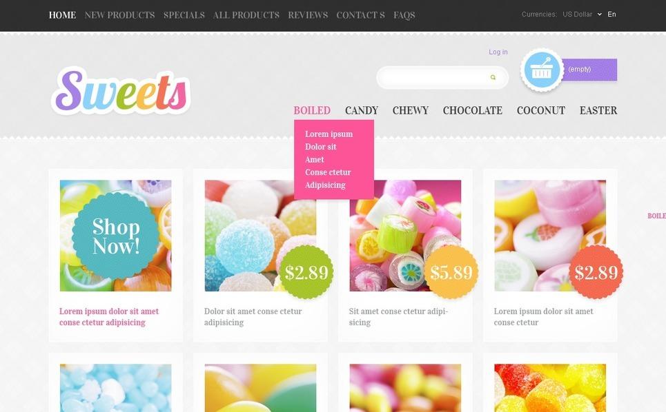 ZenCart Vorlage für Süßwarengeschäft  New Screenshots BIG