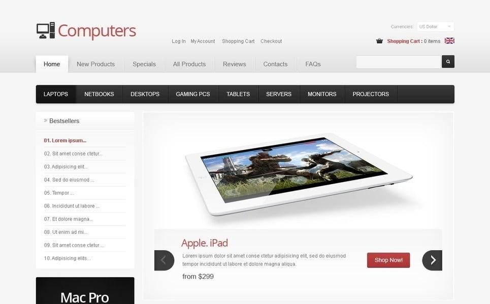 Plantilla ZenCart #40112 para Sitio de Tienda de computadoras New Screenshots BIG