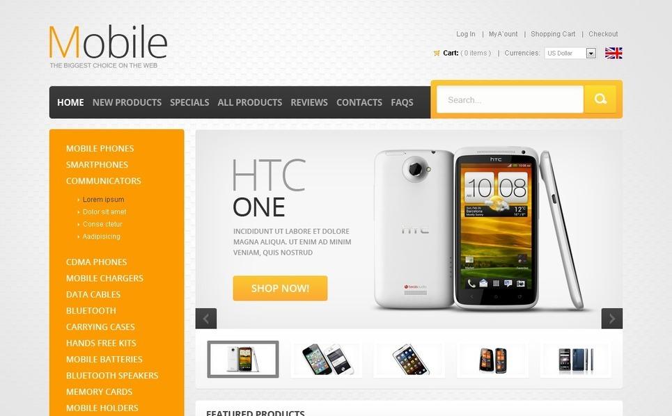 ZenCart Vorlage für Handyladen  New Screenshots BIG