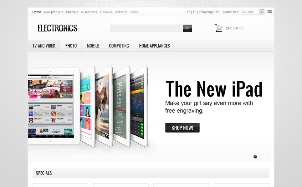 """Plantilla ZenCart """"Tienda de Electrónia"""" New Screenshots BIG"""