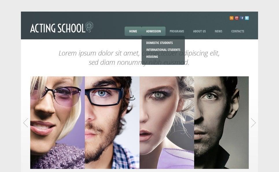 Website template over Opleiding  New Screenshots BIG