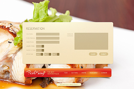 Template 40130 ( Reservation Page ) ADOBE Photoshop Screenshot