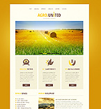 Agriculture Website  Template 40131