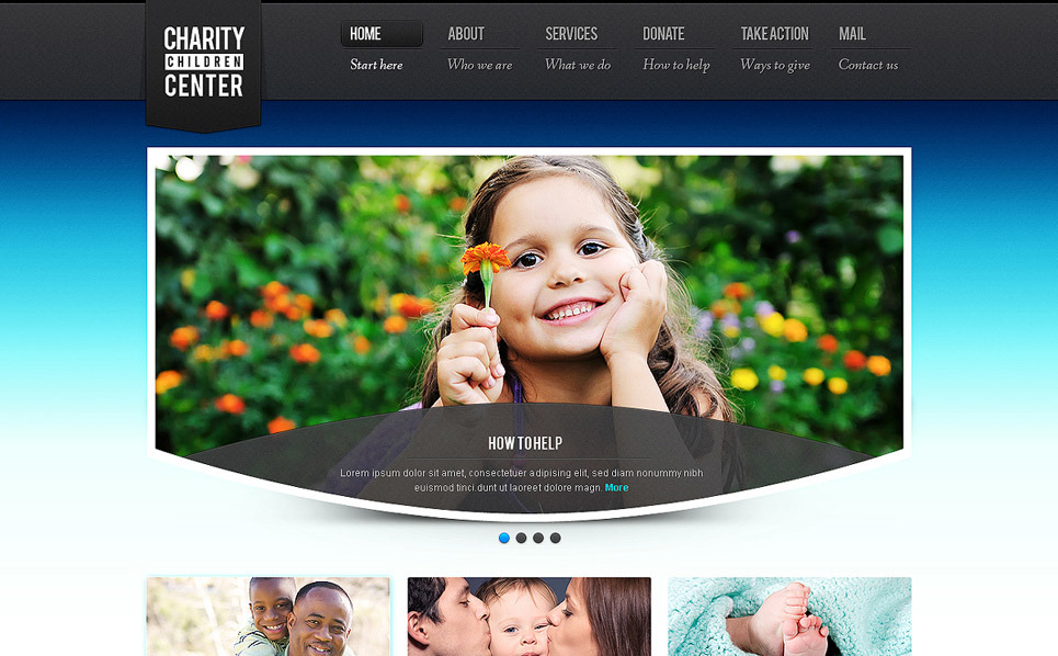 Template Siti Web  #40132 per Un Sito di Beneficenza New Screenshots BIG
