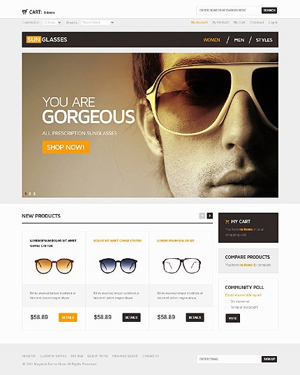 osCommerce Template 40136 Main Page Screenshot
