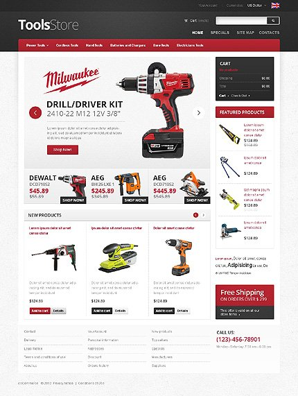 osCommerce Template 40139 Main Page Screenshot