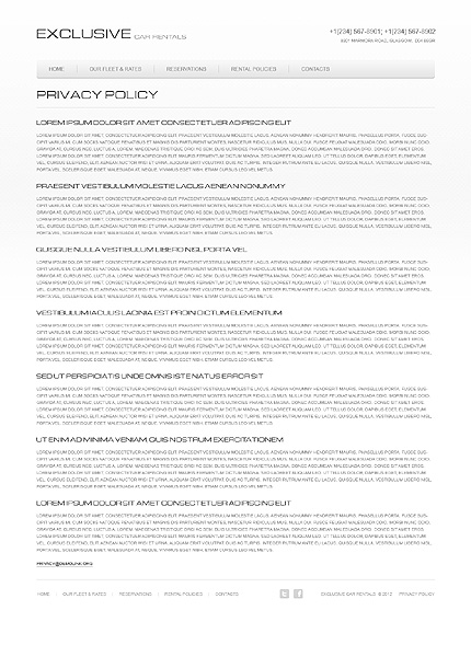 Template 40140 ( Privacy Policy Page ) ADOBE Photoshop Screenshot