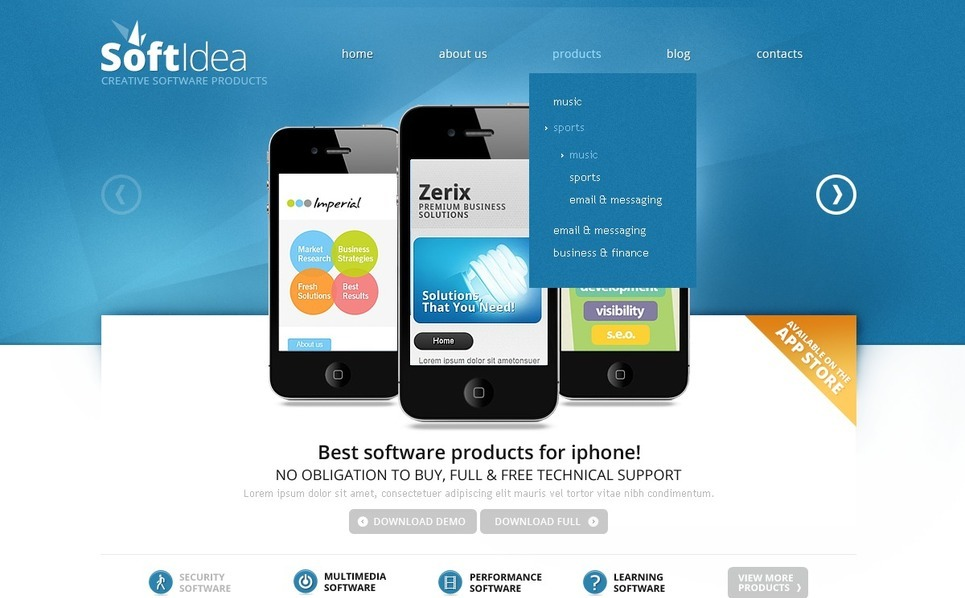 软件企业网页Joomla模板 New Screenshots BIG