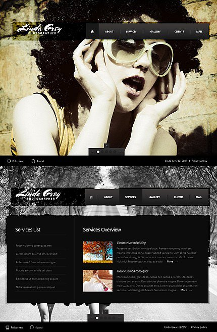 ADOBE Photoshop Template 40145 Home Page Screenshot