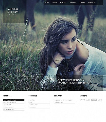 ADOBE Photoshop Template 40146 Home Page Screenshot
