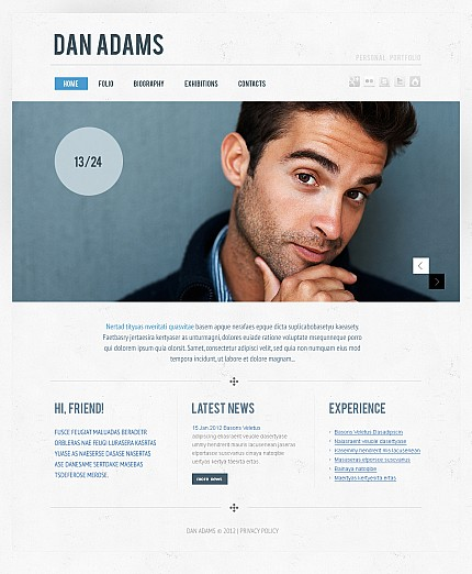 ADOBE Photoshop Template 40149 Home Page Screenshot