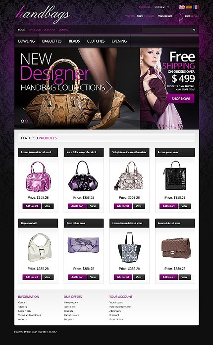 ADOBE Photoshop Template 40156 Home Page Screenshot