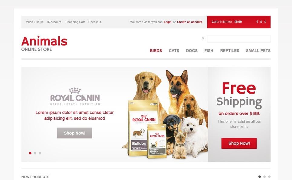 Thème OpenCart  pour les boutiques d'animaux  New Screenshots BIG