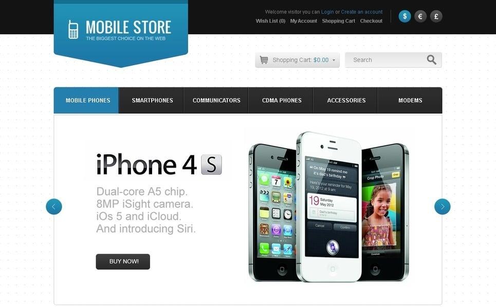 "OpenCart Vorlage namens ""Handys"" New Screenshots BIG"